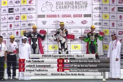 Seri 5, Sirkuit Losail Qatar Asia Road Race Championship 2015 Kemenangan Dramatis Yudhistira di ARRC Qatar